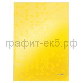 Тетрадь А4 80л.кл.Leitz WOW твердая обложка желтый 46261016