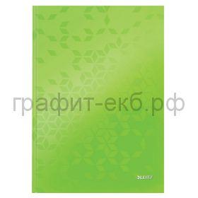 Тетрадь А4 80л.кл.Leitz WOW твердая обложка зеленый 46261064/54