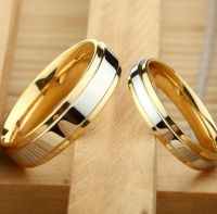 Двухцветные свадебные кольца
