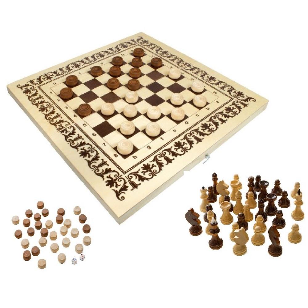 Игра 2в1 (шахматы, шашки) (400х210х35 фанера)