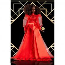 Коллекционная кукла барби 75-летний Юбилей (Брюнетка) - Barbie Collector Mattel 75th Anniversary Doll (12-in Brunette) in Red Gown