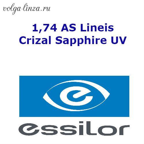 1,74 AS Lineis Crizal Sapphire UV