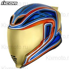 Шлем Icon Airflite EL Centro, Синий с оранжевым