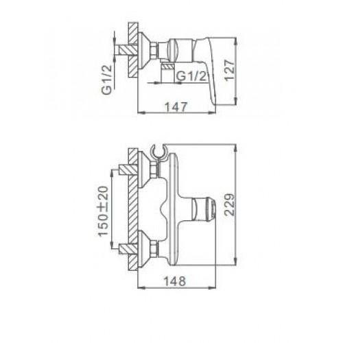 Гигиенический смеситель Frap H49-6 F2049-6
