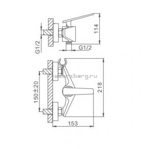 Гигиенический смеситель Frap H57 F2057
