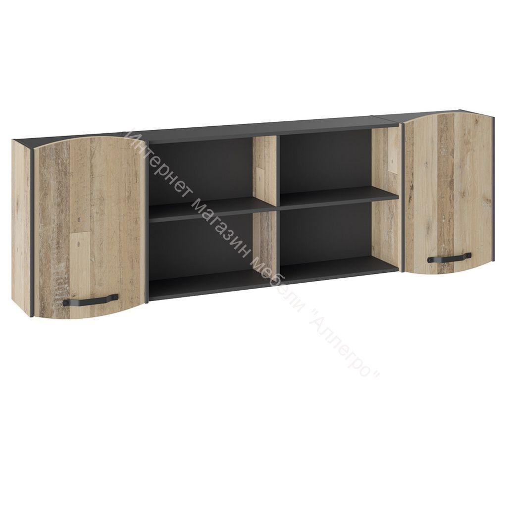 Шкаф навесной «Кристофер» (Фон Серый/Олд Стайл)