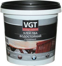 Клей ПВА Столярный VGT 1кг Водостойкий / ВГТ Столярный