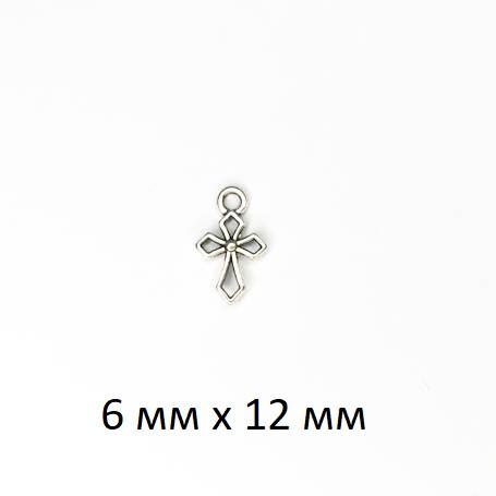 """Подвеска (кулон/ шарм) """"Крест"""" из металла без покрытия (ШМ20-Крест)"""