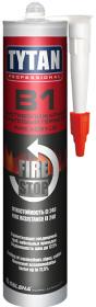 Герметик Огнестойкий, Акриловый 310мл Tytan Professional B1 Fire Stop Acrylic Белый / Титан Профессионал