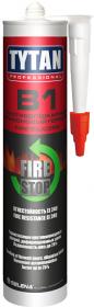 Герметик Противопожарный, Силиконовый 310мл Tytan Professional B1 Fire Stop Silicon Белый / Титан Профессионал