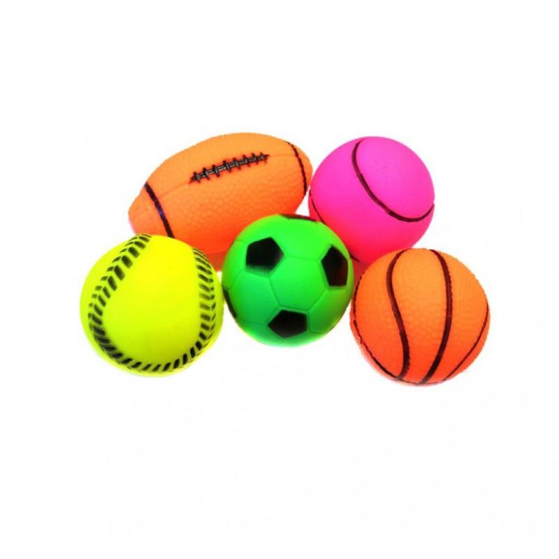 Игрушки-пищалки для собак виниловые Мячики, 5 шт.