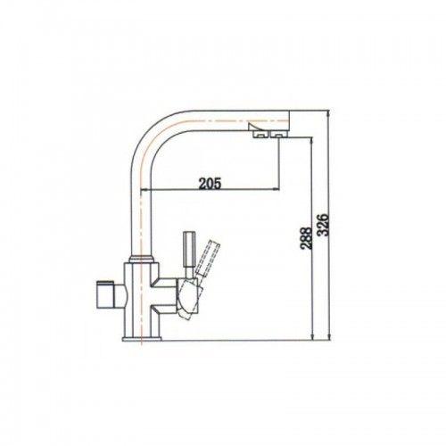 Kaiser Decor 40144-9 Black Mat Черный матовый смеситель для кухни под фильтр