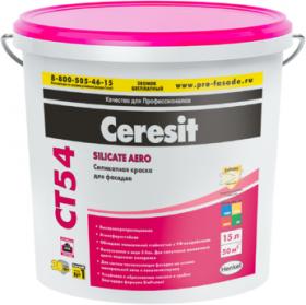 Краска Силикатная Ceresit CT 54 15л для Внутренних и Наружных Работ / Церезит СТ 54
