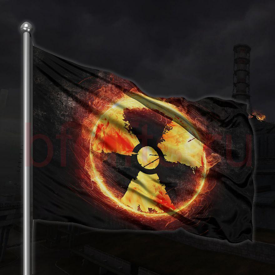 Флаг Знак радиации, под заказ