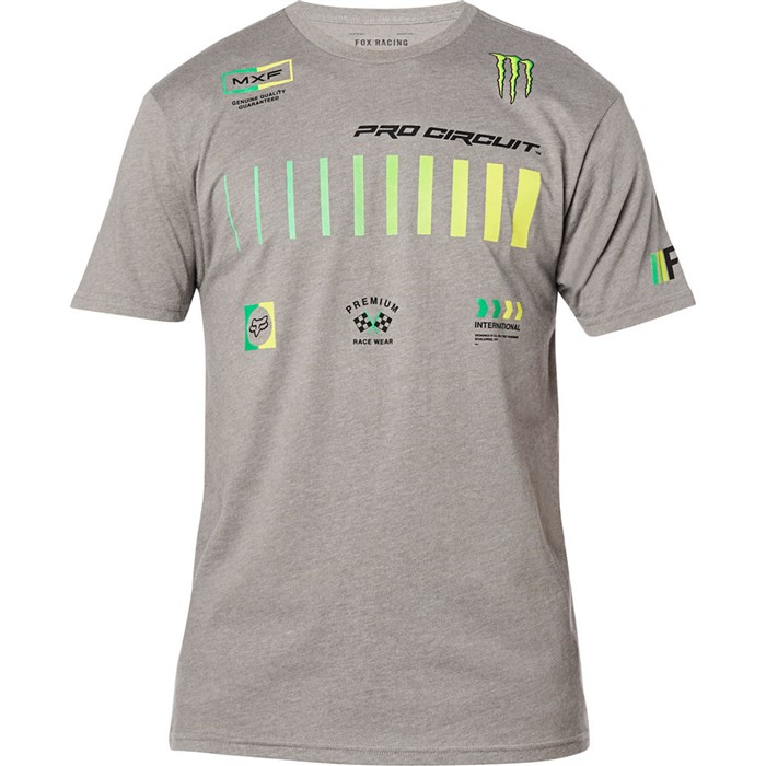 Fox Pro Circuit SS Premium Tee Heather Graphite футболка