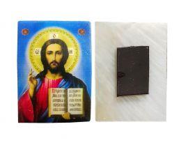 ИИСУС ХРИСТОС. Магнитик на холодильник на перламутровой индийской ракушке