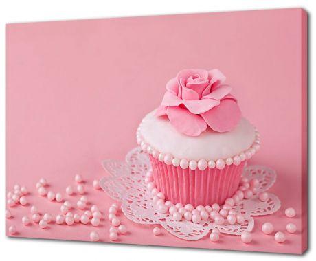 Картина на холсте Розовое пирожное