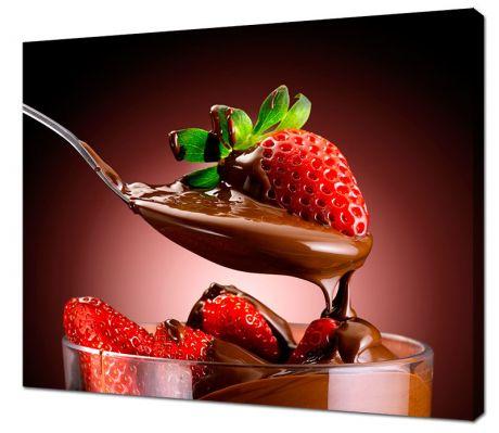 Картина на холсте Клубника в шоколаде