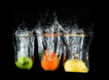 Картина на холсте Апельсин лимон и яблоко