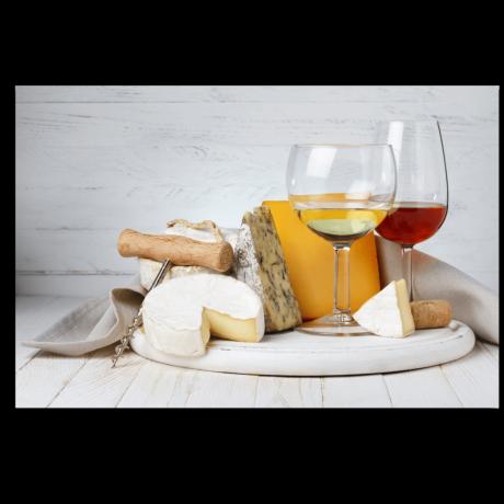 Картина на холсте Сыр и вино