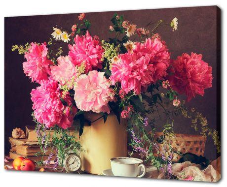 Картина на холсте Букет пионов