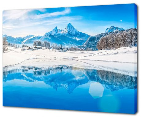 Картина на холсте Утро в Альпах