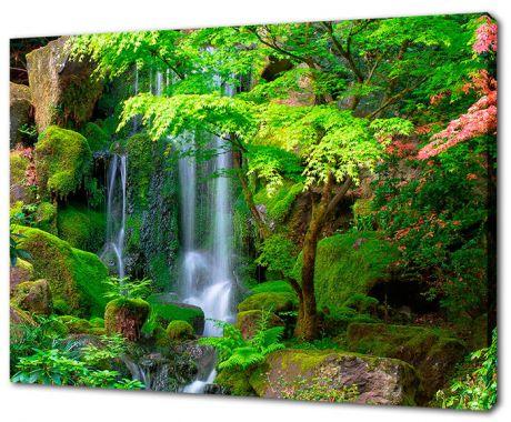Картина на холсте Водопад в джунглях