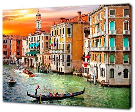 Картина на холсте Закат в Венеции