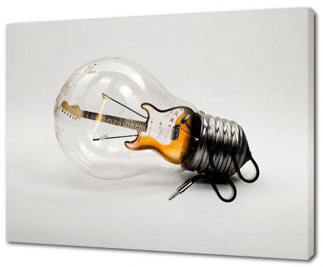 Картина на холсте Гитара в лампе