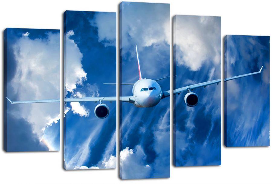 Модульная картина Полет самолета