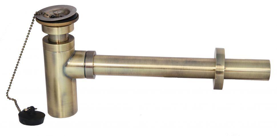 Сифон для раковины Kaiser 958Z-An с выпуском бронза