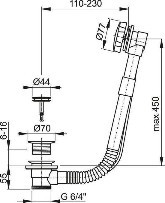Обвязка для ванны Kaiser 8004 хром автомат