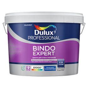 Краска для Стен и Потолков Dulux Professional Bindo Expert 9л Глубокоматовая для Внутренних Работ / Дюлакс Биндо Эксперт