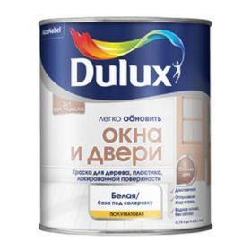 Краска Окна и Двери Dulux 0.75л Износостойкая, Водная, Полуматовая | Дюлакс Окна и Двери