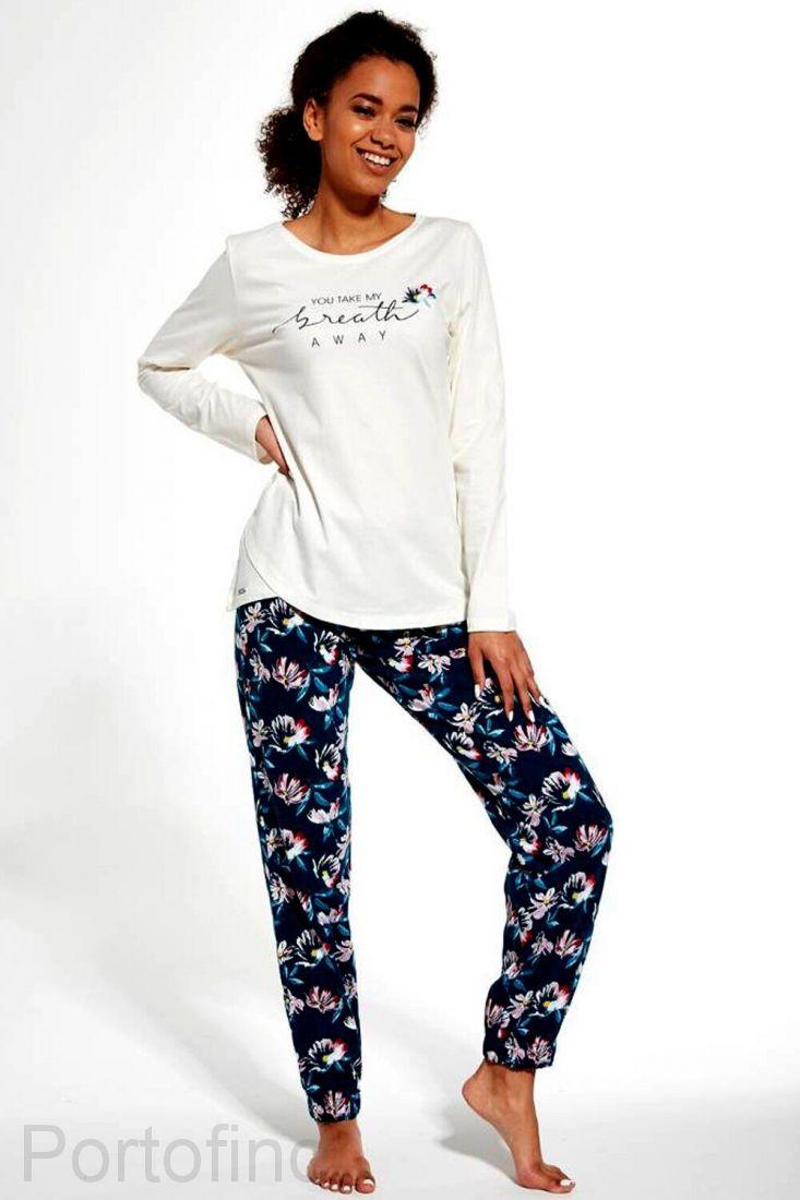 161-251 женская пижама длинный рукав Cornette