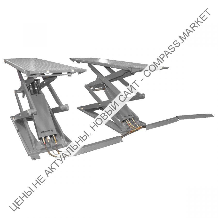 Подъемник ножничный короткий напольный г/п 3000 кг, KraftWell (КНР)