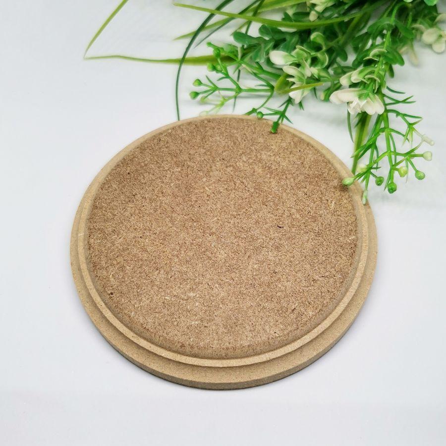 Бирка накладка панно, круг с фаской, МДФ 15 см,
