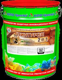 Защитно-Декоративное Покрытие Краско Пинтурол 2 в 1 15кг Трудновымываемый для Древесины на Органических Растворителях