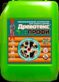 Антисептик Невымываемый Красковия Древотекс Профи 10кг для Защиты Древесины, Профессиональный