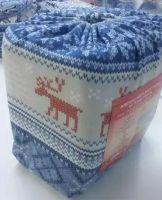 Упаковка Постельное белье из фланели  Норвежский узор синий, Туркменистан