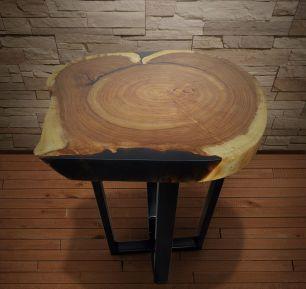 Журнальный Стол из спила дерева .Сибирский Карагач (Вяз)