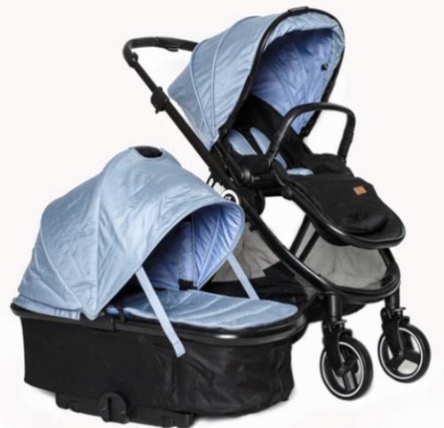 Коляска детская 2в1 ТМ BabyZz, Модель В102 голубая