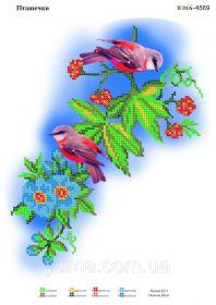 ЮМА ЮМА-4569 Пташечки схема для вышивки бисером купить оптом в магазине Золотая Игла - вышивка бисером
