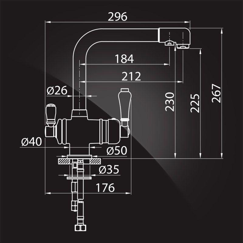 Elghansa Terrakotta 56A5740 хром Смеситель для кухни под фильтр
