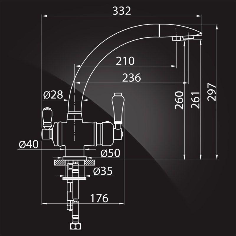 Elghansa Terrakotta 56A5840 (хром) Смеситель для кухни под фильтр
