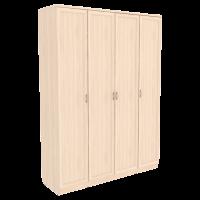 Шкаф для белья со штангой, полками и ящиками арт 110 (молочный дуб)