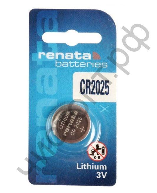 Renata  CR 2025 ( литиевая Li/MnO2, 148mAh, 3V) 1BL (10)