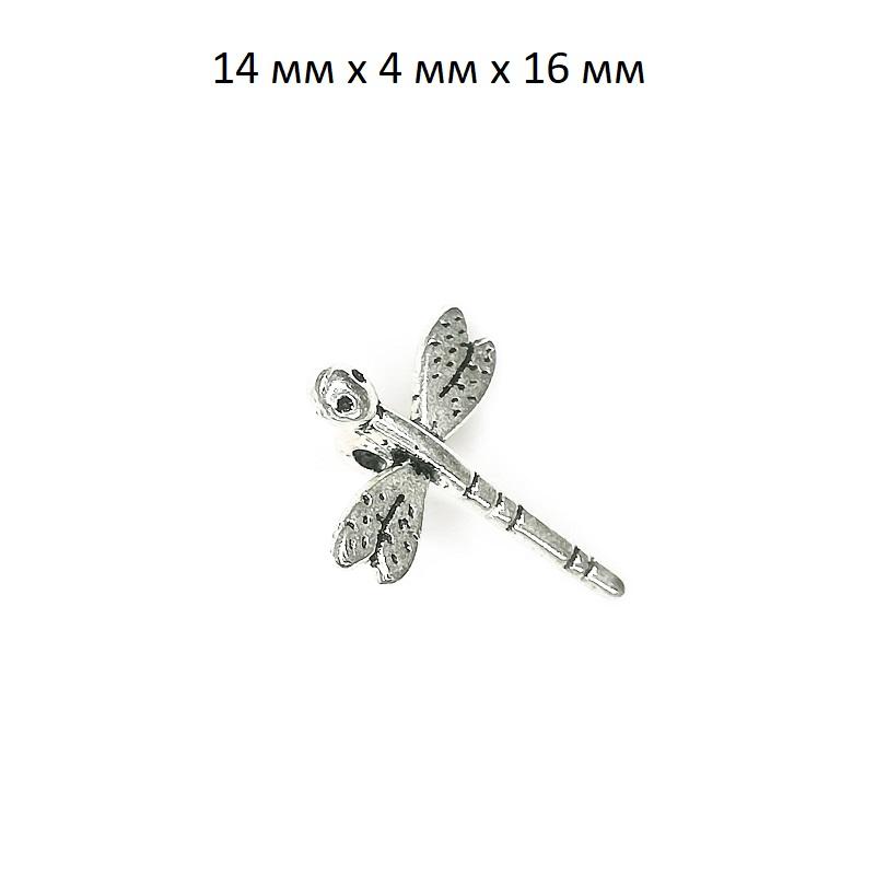 фото подвеска стрекоза серебро