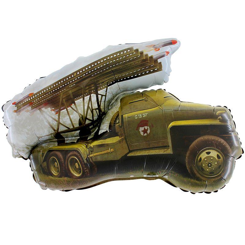 Боевая машина шар фольгированный с гелием