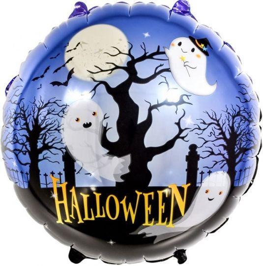 Ночь привидений Хэллоуин круглый шар фольгированный с гелием